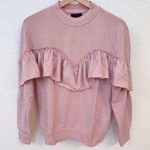 Topshop Ruffle Sweatshirt